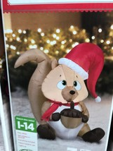 Airblown Inflatable Chipmunk Christmas Yard Decor IN STOCK NOW Gemmy - £24.71 GBP