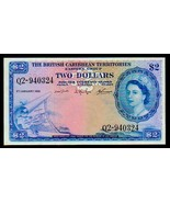 """BRITISH CARIBBEAN TERRITORIES P8c $2 """"MAP NOTE"""" 1964 RAW XF! EXTREMELY R... - $595.00"""