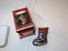 Son stocking 1997 QX64141 pressed tin RARE Christmas Hallmark Keepsake O... - $26.72