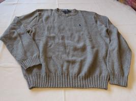 Polo by Ralph Lauren Mens long sleeve shirt sweater grey XL cotton EUC@ - $28.95