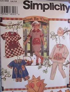 UNCUT VIntage Simplicity SEWING Pattern 7019 Girls Dress Pants Top Shorts OOP FF