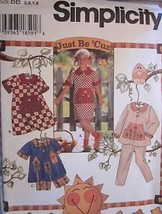 UNCUT VIntage Simplicity SEWING Pattern 7019 Girls Dress Pants Top Short... - $6.99