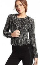 CABI JACKET  Moto Mockingbird Jacket Tweed Black, Gray and White Size 4 - $23.09