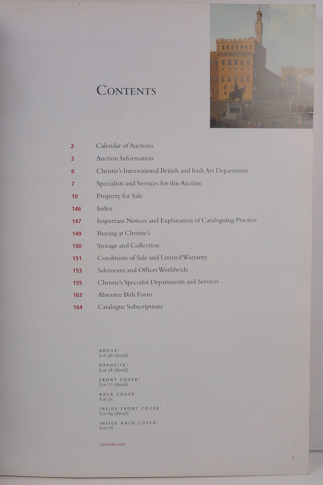British Pictures 1500 to 1850 Christie's 2006 Catalogue