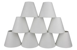Urbanest Set of 9 3-inch by 6-inch by 5-inch Suede Clip-on Chandelier Sh... - $57.41
