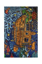 "3D Steampunk Tugboat Tapestry 60 x 90"" - $31.95"