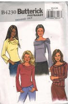4230 UNCUT Butterick SEWING Pattern Misses Close Fitting Pullover Top OO... - $5.59