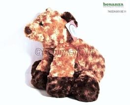 02521 Dark Brown Floppy Bear Lovey Toy Bestever Plush - $12.00