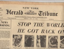 New York Herald Tribune Newspaper 1963 Friday May 17, 1963 - $4.90