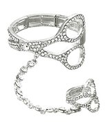 Scissor Slave Stretch Bracelet Ring Set D6 Clea... - $28.59