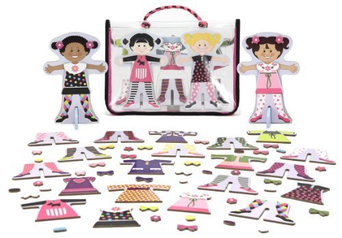 Tops & Tights - Magnetic Dress Up Wooden Doll & Stand + FREE Melissa & Doug S... - $24.50