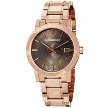 Burberry Women's BU9005 Large Check Rosetone Stainless Steel Bracelet Watch - $857.50