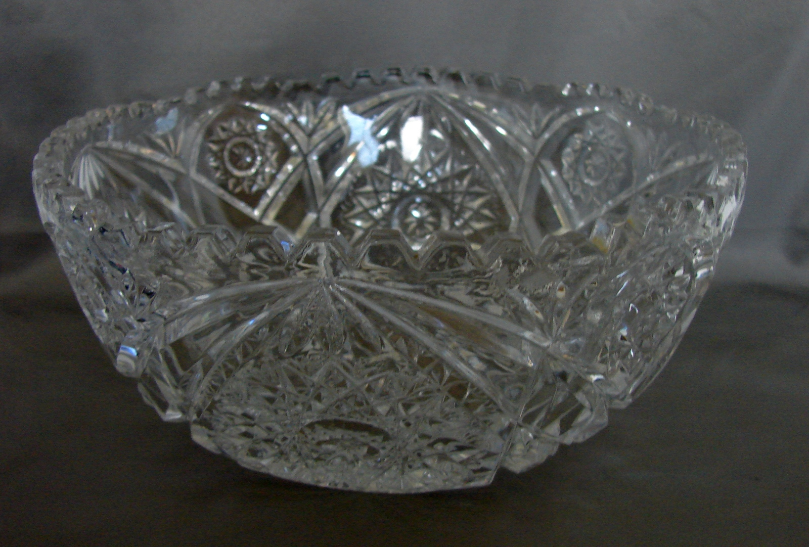 Vintage Cut Crystal Glass Serving Bowl W And 16 Similar Items