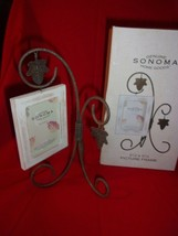 Sonoma Metal Fall Leaf Photo Stand With Hanging Distressed Wooden Frame New W/T - $9.99