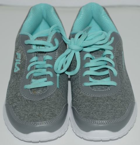 Fila 5SR21114068 Lite Spring Heather Womens Athletic Shoe Blue Seven and a Half