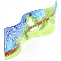 Fused Art Glass Red Eyed Green Tree Frog Wavy Decor Piece Handmade Ecuador image 5