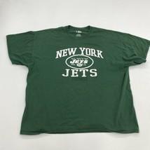 NFL T-Shirt Mens 2XL XXL Green Short Sleeve Crew Neck New York Jets Foot... - $17.99