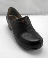 Dansko Dark Brown Leather Cut-Outs/Flowers Clogs Slip on Loafers - Women... - $31.30