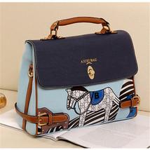 2016 Fashion New Style Design Women Blue Horse Handbag Crossbody Shoulde... - $35.51