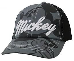 Disney Mickey Mouse Boys Black and Grey Baseball Cap Hat  - $10.99