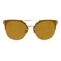 Rimless Flat Top Flat Lens Sunglasses Womens Eyewear Thin Metal Frame - $10.95