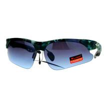 Xloop Sunglasses Mens Half Rim Matted Camo Print Sports Shades UV400 - $8.95