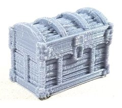 28mm Scale Terrain & Dungeon Furniture Accessories: Treasure Chest of Gold (2) w