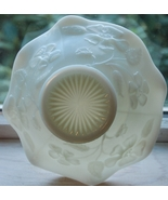 Vintage White Milk Glass Bowl with Raised Floral Pattern - $9.00