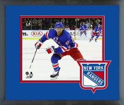 Michael Grabner 2016-17 New York Rangers - 11x14 Team Logo Matted/Framed Photo - $42.95