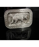 Indian Belt Buckle Howling Wolf buckle silver 1984 silver native america... - $95.00