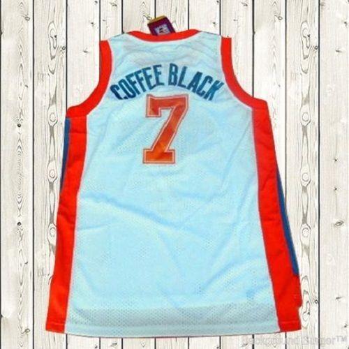 44b2dead2d97 Coffee Black Semi-Pro Flint Tropics Movie Jersey Mens Basketball Stitched  White