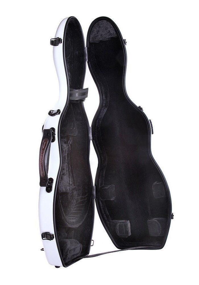 TONARELI Fiberglass Violin 4/4 Full Hard Case WHITE  NEW w sraps and blanket