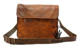 Leather satchel men's shoulder laptop women messenger cmputer men Genuine bags image 2