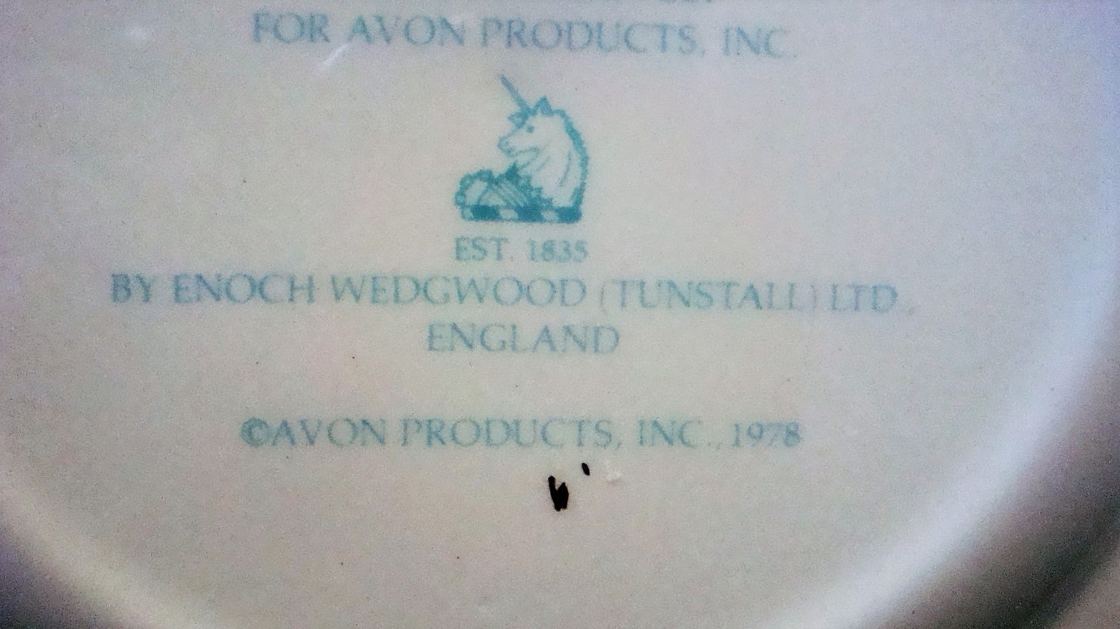 Avon Enoch Wedgwood Christmas 1978 Collectible Plate Trimming the Tree, no box image 8