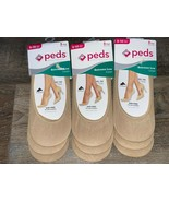 Peds ~ 9-Pair Women's Extreme Low Liner Beige Gel Tab Grippers ~ Shoe Si... - $15.98