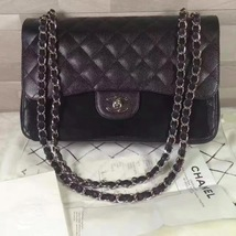 NEW Authentic Chanel Black Jumbo Caviar Double Flap Bag SHW