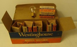 Vintage 1940's Westinghouse Auto Bulbs 1133 Box with 5 Lamps Great Color