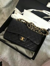 BNIB Authentic Chanel Black Jumbo Caviar Double Flap Bag Gold Hardware image 3