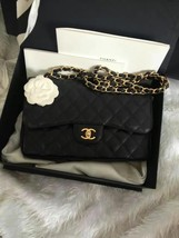 BNIB Authentic Chanel Black Jumbo Caviar Double Flap Bag Gold Hardware image 2