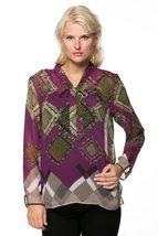 Women's Print Tie Closure Blouse - $39.99