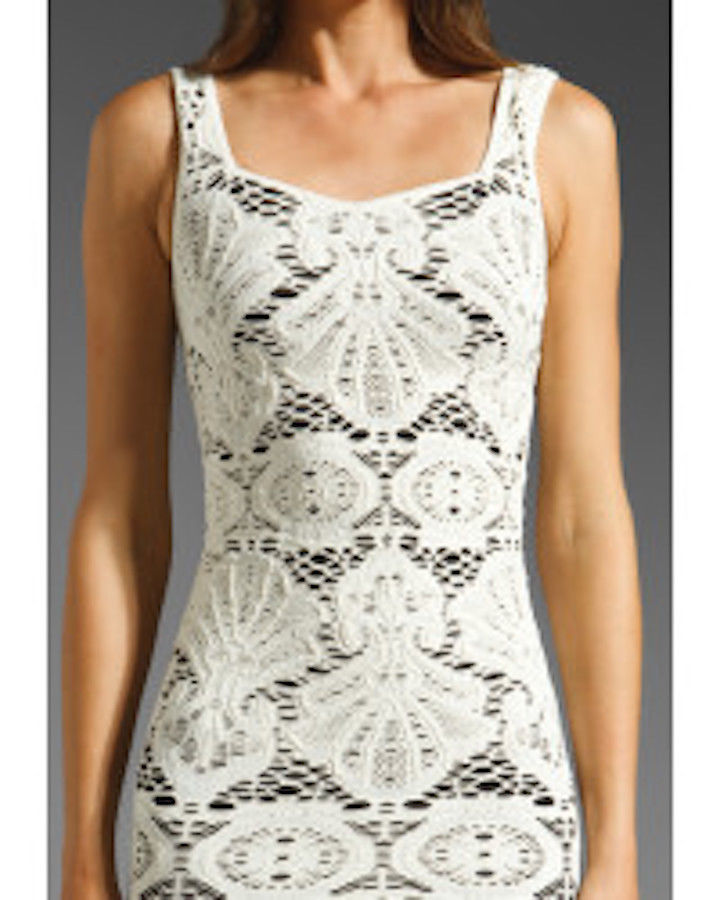 Free People IntimatelyDress Medallion Bodycon Lace White Festival Dress M/L