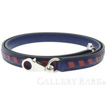 HERMES Shoulder Strap Bandouliere Tressage De Cuir Blue Encre 15mm #C Au... - $1,100.91