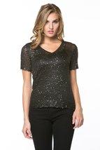 High Secret Women's Embellished V-Neck Blouse, S, Black - $49.00