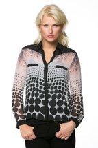 High Secret Women's Long Sleeves, geometric print blouse, L, Pink - $39.00