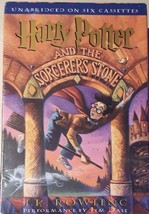 LISTENING LIBRARY HARRY POTTER & THE SORCERER'S STONE Unabridged on 6 Ca... - $13.90