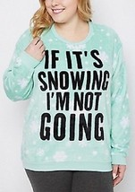 New Womens Plus Size 3X If It's Snowing I'm Not Going Warm Plush Sleep Shirt Top - $19.34