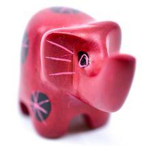 Tabaka Chigware Hand Carved Kisii Soapstone Miniature Mini Red Elephant Figurine image 4