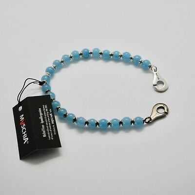 Silver 925 Bracelet round Aquamarine BSP-3 Made in Italy by Maschia image 5