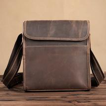LuxUniQ New Design Vintage Leather Brown Mens Messenger Bag Leisure Shou... - $58.50
