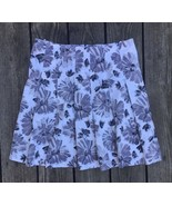 UNITED COLORS OF BENETTON Womens 10 Medium Floral Gray Pleated Skirt P12 - $11.87